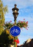 Segnale stradale della bici Fotografia Stock