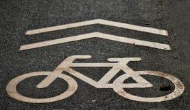 Segnale stradale della bicicletta Fotografia Stock