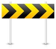 Segnale stradale della costruzione di strade Blocco stradale, esclusione, diversione, rotonda illustrazione di stock