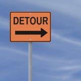Segnale stradale della deviazione Immagine Stock