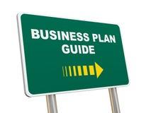 segnale stradale della guida del business plan 3d Immagini Stock