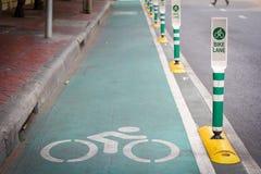 Segnale stradale della pista ciclabile Immagine Stock Libera da Diritti