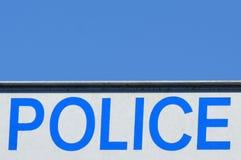 Segnale stradale della polizia Fotografia Stock Libera da Diritti