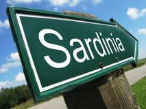 Segnale stradale della Sardegna Fotografie Stock Libere da Diritti
