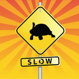 Segnale stradale della tartaruga Fotografie Stock Libere da Diritti