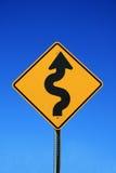 Segnale stradale di bobina Fotografia Stock