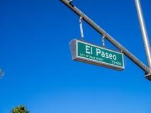 Segnale stradale di EL Paseo Immagine Stock Libera da Diritti