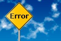 Segnale stradale di errore Fotografie Stock