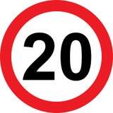 segnale stradale di limitazione di 20 velocità royalty illustrazione gratis