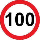 segnale stradale di limitazione di 100 velocità illustrazione vettoriale