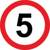 segnale stradale di limitazione di 5 velocità royalty illustrazione gratis