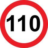 segnale stradale di limitazione di 110 velocità illustrazione vettoriale