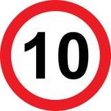 segnale stradale di limitazione di 10 velocità royalty illustrazione gratis
