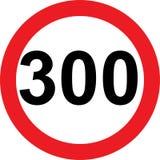 segnale stradale di limitazione di 300 velocità illustrazione vettoriale