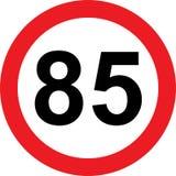 segnale stradale di limitazione di 85 velocità illustrazione vettoriale