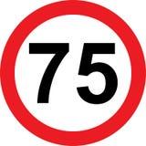 segnale stradale di limitazione di 75 velocità illustrazione di stock