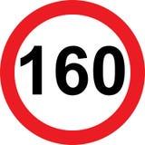 segnale stradale di limitazione di 160 velocità illustrazione di stock