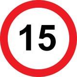 segnale stradale di limitazione di 15 velocità royalty illustrazione gratis