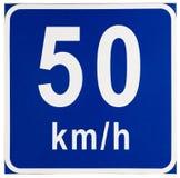Segnale stradale di limite di velocità Immagine Stock Libera da Diritti