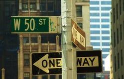 Segnale stradale di New York Fotografie Stock Libere da Diritti