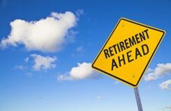 Segnale stradale di pensione avanti Immagine Stock
