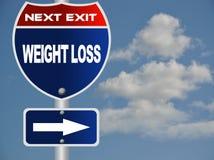 Segnale stradale di perdita di peso Immagini Stock