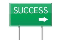 Segnale stradale di successo Immagine Stock Libera da Diritti