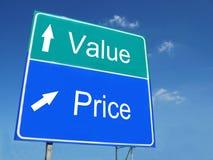 Segnale stradale di Valore-prezzo Immagine Stock Libera da Diritti