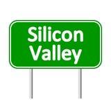 Segnale stradale di verde di Silicon Valley Immagine Stock