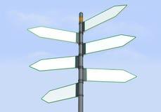 Segnale stradale direzionale sei Fotografie Stock Libere da Diritti
