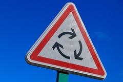 Segnale stradale francese della rotonda immagine stock