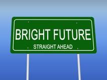 Segnale stradale futuro luminoso Immagine Stock Libera da Diritti