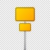 Segnale stradale giallo della strada Bordo in bianco con il posto per testo Modello Segnale di informazione isolato senso Vettore royalty illustrazione gratis