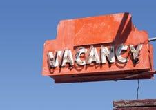 Segnale stradale iconico del motel di Route 66 Fotografie Stock