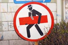Segnale stradale insolito Fotografie Stock Libere da Diritti