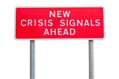 Segnale stradale di crisi Fotografia Stock Libera da Diritti