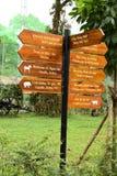 Segnale stradale nello zoo di Saigon Fotografia Stock