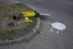 Segnale stradale nocivo 3 fotografia stock