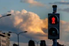Segnale stradale pedonale - fermata Immagini Stock Libere da Diritti