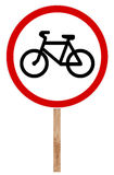 Segnale stradale proibitivo - bicicletta Immagini Stock