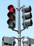 Segnale stradale rosso immagine stock