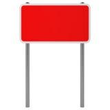 Segnale stradale rosso isolato su bianco Immagine Stock