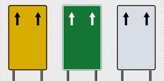 segnale stradale, segni del bordo della strada isolati su fondo trasparente Illustrazione ENV 10 di vettore illustrazione vettoriale