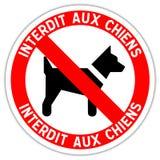 Segnale stradale: severo ai cani illustrazione di stock
