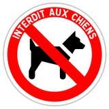 Segnale stradale: severo ai cani illustrazione vettoriale