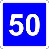 segnale stradale suggerito 50 di velocità Immagine Stock Libera da Diritti