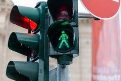 Segnale stradale tedesco sulla via fotografia stock
