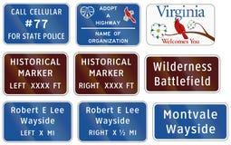 Segnale stradale utilizzato nello stato USA della Virginia - dichiari il numero della polizia illustrazione vettoriale