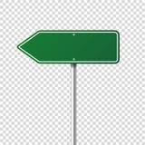 Segnale stradale verde della strada Bordo in bianco con il posto per testo Modello Segnale di informazione isolato senso Vettore royalty illustrazione gratis
