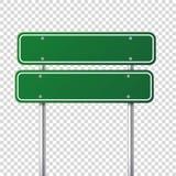 Segnale stradale verde della strada Bordo in bianco con il posto per testo Modello Segnale di informazione isolato senso Vettore illustrazione di stock
